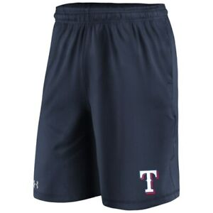 Under Armour Texas Rangers Baseball Navy Raid Men's HeatGear Performance Shorts