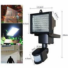 Solar Powered 60 LED PIR Infrared Motion Sensor Security Light Flood Lamp Garden