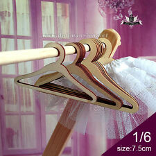 1/6 BJD Clothes Coat Hanger YOSD Doll Wood Furniture Dollfie DIM DOD AOD SOOM DZ