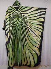 Women's Caftan Zebra Maxi DRESS BOHO Kaftan Abstract SATIN M L XL 1X 2X 3X 4X