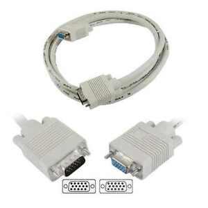 VGA Extension Cable 15 Pin VGA SVGA D-Sub Male to Female Extender Lead Converter