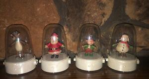 Hallmark 2008 Happy Tappers COMPLETE SET OF 4 Santa Elf Reindeer Snowman