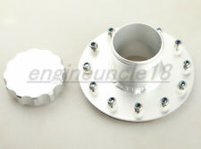 Billet Fuel Cell Fast Fill Filler Neck 12 Bolt Flange Aluminum Silver