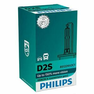 1x D2S HID Xenon Car Headlight Bulb PHILIPS X-treme Vision Gen2 85122XV2C1