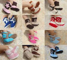 Wholesale Lot 10 Knit Crochet Cotton Newborn Baby Child Colorful Cowboy Boots