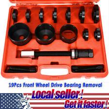 19Pcs Front Wheel Drive Bearing Removal Install Service Tool Kit Master Set