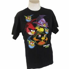 Angry Birds Space Black Tee Large Short Sleve  (v-12)