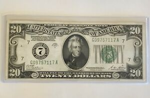 """1928 A $20 FEDERAL RESERVE NOTE """"GOLD ON DEMAND"""" VF/XF!   CRISP!  ON SALE!  (9)"""