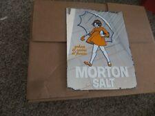 morton salt reverse glass vintage when it rains it pours advertising rare mirror
