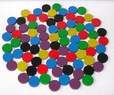 100 Spielchips  gemischt  Roulette Spielmarken  Zählchips  Holz   ø 15 x 4  mm
