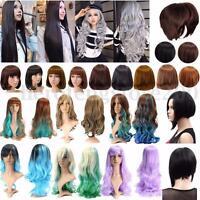 Women Girl Lady Fashion Long Short Wavy Curly Hair Cosplay Costume Full Wig NEW