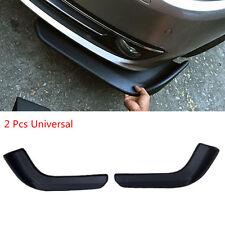 2pcs Car Bumper Spoiler Black ABS Decorative Scratch Resistant Wing Front Shovel