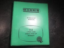 1956-1967 Morris J2 Workshop Manual Austin 152 Pickup Truck Van Minibus Camper