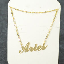 """"""" Aries """" ZODIAC Pendant Necklace Triple Plated Metal Necklace N1115A Gold"""