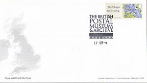 (44917) GB FDC Post and Go Flora Symbolic Flowers Postal Museum Archive 2014