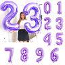 "40"" LARGE FOIL LETTER BALLOON NUMBER BALLOON FLOAT HELIUM ALPHABET PURPLE PARTY"