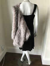 Stunning Vintage Style (40s) BIBA Faux Fur Cape / Capelet UK 10 New