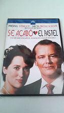 "DVD ""SE ACABO EL PASTEL"" COMO NUEVO MIKE NICHOLS MERYL STREEP JACK NICHOLSON"
