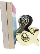 Goldtone Decorative Book End & Ampersand