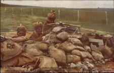 British Daily Mail WWI Series Indian Hotchkiss Machine Gun c1915 Postcard