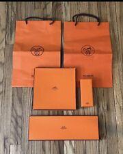 Authentic Hermes Orange Bags & Boxes