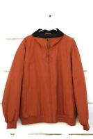 Claiborne Men's Orange Outwear Microfiber Light Bomber Jacket Size 2X