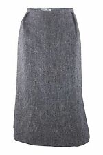 *HARDY AMIES* VINTAGE GREY WOOL A LINE SKIRT (10)