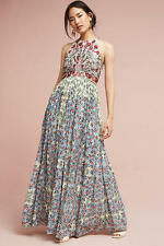 NWT Anthropologie Adelise Beaded Halter Maxi Dress Sz 14 Bhanuni by Jyoti $228