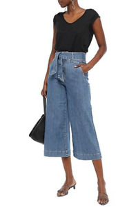 Joie Marylu Tie-front Denim Culottes Jeans Size 12 MSRP: $248.00