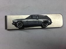 Reliant Scimitar GTE SE5 ref198 pewter effect car on stainless steel money clip