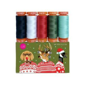 Holiday Homies By Tula Pink Aurifil Thread 5 Spools 220yd each of 50WT cotton