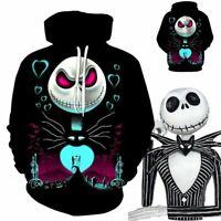 The Nightmare Before Christmas Jack Skellington 3D Hoodie Sweatshirt Coat Jacket