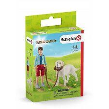 SCHLEICH 42478 - Farm World - Spaziergang mit Labrador Retriever