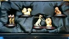 Rare Disney Limited Edition Lady & The Tramp 50th Anniversary Pewter Miniatures
