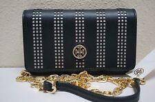Tory Burch Robinson Black Perforated Mini Chain Shoulder Bag 51149298