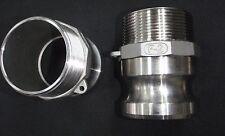 Stainless Steel Cam Lock Adapter 2 Male 2 Npt Male Nipple Cl24 200