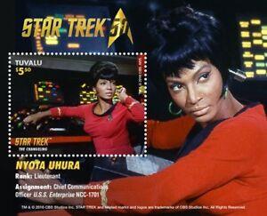 Tuvalu 2016 MNH Star Trek Original Series 50th Anniv Nyota Uhura Souvenir Sheet