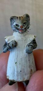 Old Vienna Bronze Miniature CAT BEATRIX POTTER Tabitha Twitchit