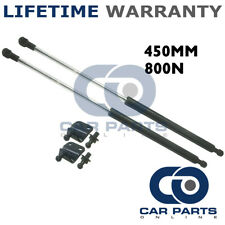2X UNIVERSAL GAS STRUTS SPRINGS KIT CAR OR CONVERSION 450MM 45CM 800N & BRACKETS