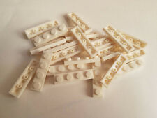 Lego White Plate 1x4, Part 3710, Element 371001, Qty:25 - New
