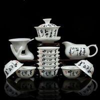 Bone China Ceramic Tea Cup Kung Fu Tea Set Gift Relief Dragon Porcelain Suit New