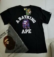 Mens A Bathing Ape Bape small ape Shirt Purple Camo Size M