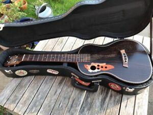 Caramel All Rosewood Baritone Acoustic Electric Ukulele & Hard Case (free dust)