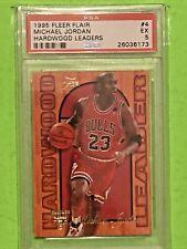 1995 Fleer Hardwood Leaders Michael Jordan #4🔥 PSA 5 🔥🏀 Chicago Bulls- Insert