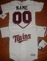 Minnesota Twins Cool Base MLB Majestic Toddler Replica Jersey add name number