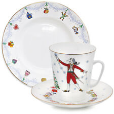 Nutcracker Ballet 3-piece Imperial Lomonosov Porcelain Teacup, Saucer and Plate