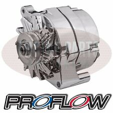 Ford Falcon XD XE XF 6 Cyl 250 Proflow Chrome Alternator 100 AMP Internal Reg
