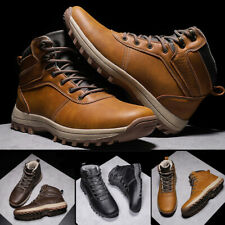 Мужские ботинки круглый носок, повседневная, спортивная, Пешие прогулки Открытый ретро безопасность ботиночки туфли
