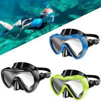Half Face  Anti-Fog Underwater Diving Scuba Snorkel Goggles Silicone Glasses US