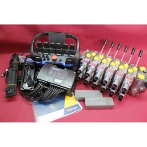 Hydraulic valve 6 functions 120l/min 33 GPM 24V + RADIO  HIAB PALFINGER crane